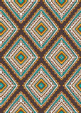 Vector seamless pattern with ethnic tribal ornamental rhombuses. Royalty Free Stock Image
