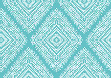 Vector seamless pattern with ethnic tribal ornamental rhombuses . Boho and hippie stylish background. Royalty Free Stock Photos