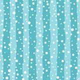 Vector seamless pattern - falling snow. stock photos