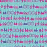 Vector seamless pattern of fashion jewelry Stock Photo