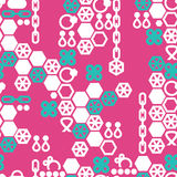 Vector seamless pattern of fashion jewelry Stock Images