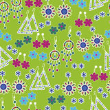 Vector seamless pattern of fashion jewelry Stock Image