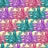 Vector seamless pattern with feather Stock Photo