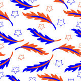 Vector seamless pattern of feather. Decorative bright Stock Image
