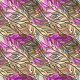 Vector seamless pattern with feather Stock Photos
