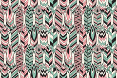 Vector Seamless Pattern with Feathers Royalty Free Stock Images