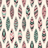 Vector Seamless Pattern with Feathers Royalty Free Stock Photography