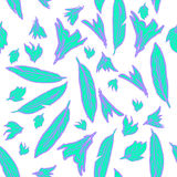 Vector seamless pattern feathers. Vector seamless pattern with hand drawn feathers of different size Royalty Free Stock Photos