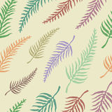 Vector seamless pattern with fern leaves Stock Photos