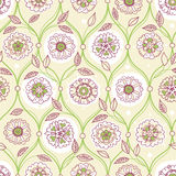 Vector seamless pattern, filigree floral background. Vintage element for design in Eastern style. Ornamental spring tracery. Ornate decor for wallpaper Royalty Free Stock Photography