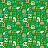 Vector seamless pattern with finance icons Royalty Free Stock Photos