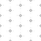Vector seamless pattern with fine geometric shapes. Small rhombuses subtle print white background Royalty Free Stock Photography