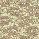 Vector seamless pattern of fish. Seamless pattern of fish. Abstract texture, elements for your design. There is in addition a vector format (EPS 8 Stock Image