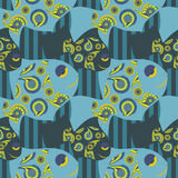 Vector seamless pattern of fish Royalty Free Stock Photo