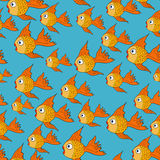 Vector seamless pattern with fishes. Fully editable eps 10 Royalty Free Stock Photography