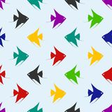 Vector seamless pattern with fishes. Vector Illustration Royalty Free Stock Images