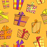 Vector seamless pattern with flat cartoon style Royalty Free Stock Photos
