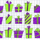Vector seamless pattern with flat cartoon style Royalty Free Stock Images