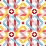 Vector seamless pattern with flat ribbons Stock Photo