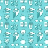 Vector seamless pattern in flat style Royalty Free Stock Photo
