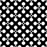Vector seamless pattern, floral dotted geometric texture Royalty Free Stock Photo