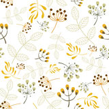 Vector seamless pattern floral elements Stock Photos