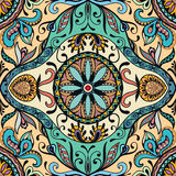 Vector seamless pattern, floral geometric ornament Royalty Free Stock Photo