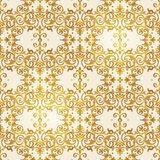 Vector seamless pattern with floral ornament. Stock Photo
