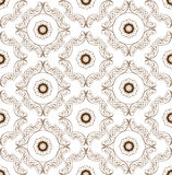 Vector seamless pattern with floral ornaments. Ornate floral dec Royalty Free Stock Images