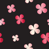 Vector seamless pattern. Floral texture on black Royalty Free Stock Photography