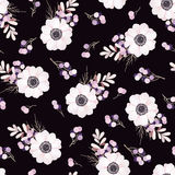 Vector seamless pattern with flower bouquet. Vector seamless pattern with flower bouquet Anemone stock illustration
