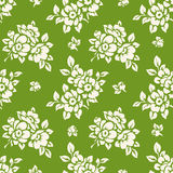 Vector seamless pattern with flower silhouettes. Stock Images