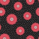 Vector seamless pattern flower Royalty Free Stock Photos