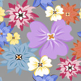 Vector seamless pattern flower texture Stock Photography