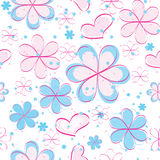 Vector seamless pattern with flowers Stock Photos