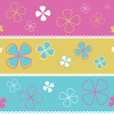 Vector seamless pattern flowers Stock Image
