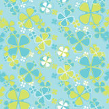 Vector seamless pattern flowers Royalty Free Stock Photos
