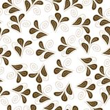 Vector seamless pattern with flowers on the background Royalty Free Stock Photography