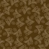 Vector seamless pattern with flowers on a brown background, Stock Photo