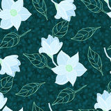 Vector seamless pattern with flowers Stock Photo