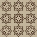 Vector seamless pattern with flowers and squares. Stock Photo