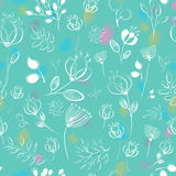 Vector seamless pattern. Flowers royalty free stock photography