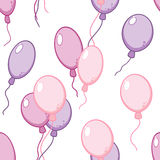 Vector seamless pattern with flying balloons Stock Image