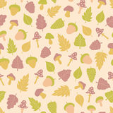 Vector seamless pattern with forest theme collection stock illustration