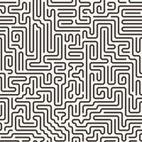 Vector seamless pattern in the form of a labyrinth Royalty Free Stock Images