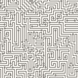 Vector seamless pattern in the form of a labyrinth Stock Photography