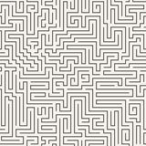 Vector seamless pattern in the form of a labyrinth Royalty Free Stock Image