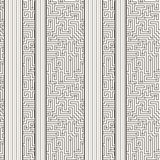 Vector seamless pattern in the form of a labyrinth Stock Images