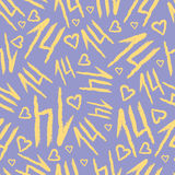 Vector Seamless Pattern with fourteen shapes. Napkin background with seamless pattern royalty free illustration