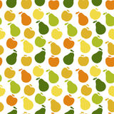 Vector seamless pattern of fruit - apple and pear Royalty Free Stock Photo